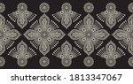 seamless vintage floral border... | Shutterstock .eps vector #1813347067
