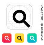 magnifier icon. | Shutterstock . vector #181334924