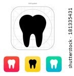 tooth medical icon on white...