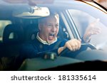 angry driver   Shutterstock . vector #181335614