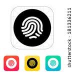 thumbprint scanner icon.
