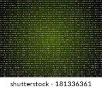 Binary Computer Code Green...