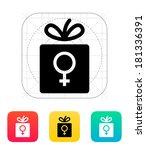female gift icon. | Shutterstock . vector #181336391