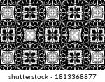 ornament with elements of black ... | Shutterstock . vector #1813368877