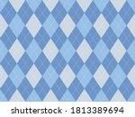 argyle pattern seamless. fabric ... | Shutterstock .eps vector #1813389694