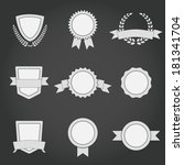 set of abstract badges  shields ... | Shutterstock .eps vector #181341704