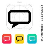 rectangular bubble icon on...