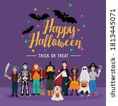 halloween party background ... | Shutterstock .eps vector #1813445071