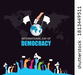 international day of democracy... | Shutterstock .eps vector #1813449511
