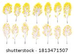 set of simple autumn birches... | Shutterstock .eps vector #1813471507