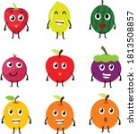 cute bright colors of fruits... | Shutterstock .eps vector #1813508857