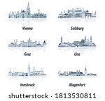 austrian cities abstract... | Shutterstock .eps vector #1813530811