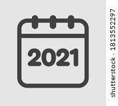 vector icon calendar year  ...   Shutterstock .eps vector #1813552297