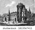 Castle Of Rambouillet  Vintage...