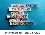 growth  acronym in business... | Shutterstock . vector #181357229