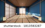 Blue Color Room Design Interior ...