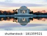 Jefferson Memorial At Sunset    ...
