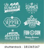 summer vector set   happy... | Shutterstock .eps vector #181365167