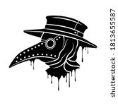 plague doctor mask. steampunk... | Shutterstock .eps vector #1813655587
