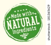 Natural Ingredients Badge | Shutterstock vector #181365629