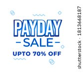 pay day sale shopping offers...   Shutterstock .eps vector #1813668187