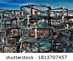 Crab Traps Stacked And Ready