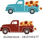 Vintage Truck Set With Fall...