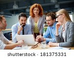 group of business partners... | Shutterstock . vector #181375331