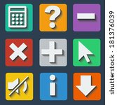 set of colorful icons with... | Shutterstock .eps vector #181376039