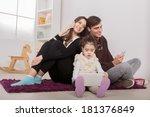 family in the room | Shutterstock . vector #181376849