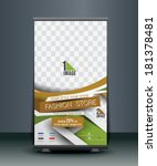 fashion store roll up banner... | Shutterstock .eps vector #181378481