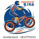 Mountain Bike Symbol. Isolated...