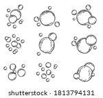 soap bubbles on white... | Shutterstock .eps vector #1813794131