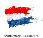 flag of netherlands made of... | Shutterstock .eps vector #181380671