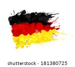 german flag made of colorful... | Shutterstock .eps vector #181380725