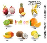 vector abstract geometric... | Shutterstock .eps vector #181381031