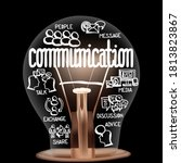 single light bulb with shining... | Shutterstock .eps vector #1813823867