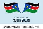 south sudan flag state symbol...