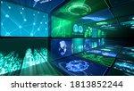 digital network technology ai... | Shutterstock . vector #1813852244