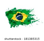 brazilian flag made of colorful ... | Shutterstock . vector #181385315