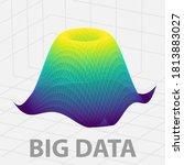 big data 3 dimensional graph.... | Shutterstock .eps vector #1813883027