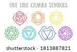 chakras  muladhara ...   Shutterstock .eps vector #1813887821