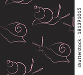 _vektor illustration_snail | Shutterstock .eps vector #181391015
