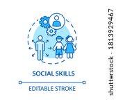 children social skills concept... | Shutterstock .eps vector #1813929467