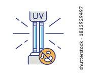 uv light disinfection rgb color ...   Shutterstock .eps vector #1813929497