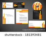 professional corporate identity ... | Shutterstock .eps vector #181393481