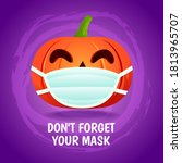 "halloween pumpkin wear a mask  ""... 