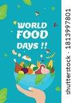world food days design vector | Shutterstock .eps vector #1813997801
