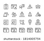 set of outline vector icons...