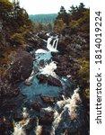 Rogie Falls Waterfall In The...